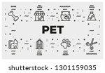 pet line icon set | Shutterstock .eps vector #1301159035