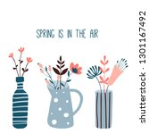 spring is in the air. card or... | Shutterstock .eps vector #1301167492