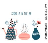 spring is in the air. card or... | Shutterstock .eps vector #1301167495