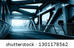 Small photo of Curved steel girder bridge and highway pavement