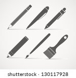 paint and writing tools... | Shutterstock .eps vector #130117928