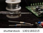 soldering iron for soldering... | Shutterstock . vector #1301183215