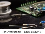 soldering iron for soldering... | Shutterstock . vector #1301183248