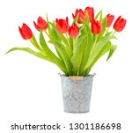 easter decoration with tulips | Shutterstock . vector #1301186698