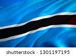 botswana flag. 3d waving flag...   Shutterstock . vector #1301197195