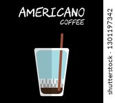 flat style cold americano... | Shutterstock .eps vector #1301197342