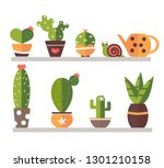 a set of indoor plants in...   Shutterstock .eps vector #1301210158