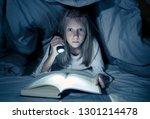 beautiful caucasian girl lying... | Shutterstock . vector #1301214478