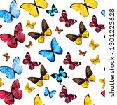 seamless pattern of colored... | Shutterstock . vector #1301223628