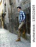 portrait of handsome man with... | Shutterstock . vector #130122605