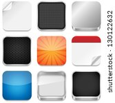 app icon templates   vector... | Shutterstock .eps vector #130122632
