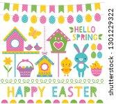 spring and easter vector design ... | Shutterstock .eps vector #1301229322