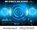 hud futuristic blue user...