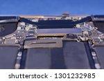 part of a disassembled laptop... | Shutterstock . vector #1301232985