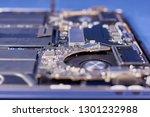 part of a disassembled laptop... | Shutterstock . vector #1301232988