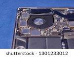 part of a disassembled laptop... | Shutterstock . vector #1301233012
