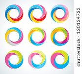 set of abstract infinite loop... | Shutterstock .eps vector #130124732
