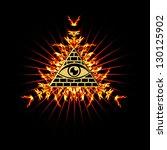 eye of providence fire   all...   Shutterstock . vector #130125902