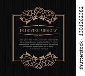 in loving memory banner with... | Shutterstock .eps vector #1301262382