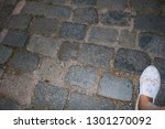 cobbled stone road     Shutterstock . vector #1301270092