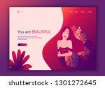 landing page website template... | Shutterstock .eps vector #1301272645