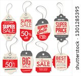 paper price tag retro vintage... | Shutterstock .eps vector #1301285395