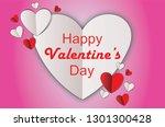 hearts paper. happy valentine's ... | Shutterstock .eps vector #1301300428