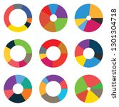 abstract set of pie chart 6... | Shutterstock .eps vector #1301304718