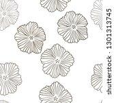 dark orange vector seamless...   Shutterstock .eps vector #1301313745