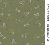 trendy seamless floral pattern. ... | Shutterstock .eps vector #1301327128