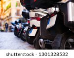 parking scooters rental on the... | Shutterstock . vector #1301328532