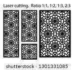 laser pattern. set of...   Shutterstock .eps vector #1301331085