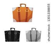 bitmap design of airport and... | Shutterstock . vector #1301338855