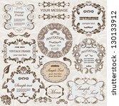 vector set  calligraphic design ... | Shutterstock .eps vector #130133912