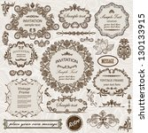 vector set  calligraphic design ... | Shutterstock .eps vector #130133915