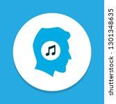 meloman icon colored symbol.... | Shutterstock .eps vector #1301348635