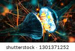 synaptic transmission....   Shutterstock . vector #1301371252