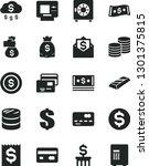 solid black vector icon set  ... | Shutterstock .eps vector #1301375815