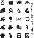 solid black vector icon set  ... | Shutterstock .eps vector #1301375968