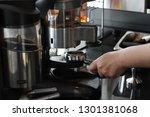 barista prepare coffee working... | Shutterstock . vector #1301381068