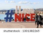 nice  france   january 29  2019 ...   Shutterstock . vector #1301382265