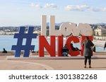 nice  france   january 29  2019 ...   Shutterstock . vector #1301382268