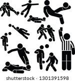 football soccer icons set