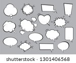 set of comic speech bubbles.... | Shutterstock .eps vector #1301406568