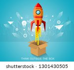 think outside the box. space... | Shutterstock .eps vector #1301430505