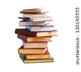 Stack Of Books Isolated On The...