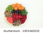 fresh health food with quinoa... | Shutterstock . vector #1301460232