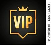 vector illustration vip club... | Shutterstock .eps vector #1301462365