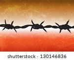 barbed wire | Shutterstock .eps vector #130146836
