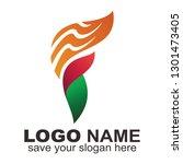 f letter logo variation... | Shutterstock .eps vector #1301473405